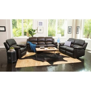 ABBYSON LIVING Westwood 3-piece Top Grain Leather Reclining Set