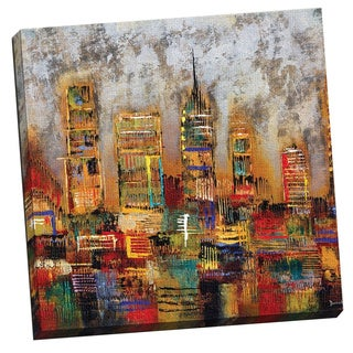 City Lights Gallery-wrapped Canvas