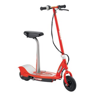 Razor E200S Red Seated Electric Scooter