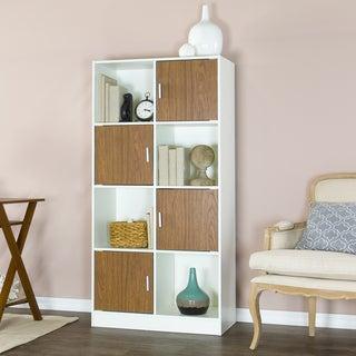 Baxton Studio White/ Walnut Chateau Bookcase