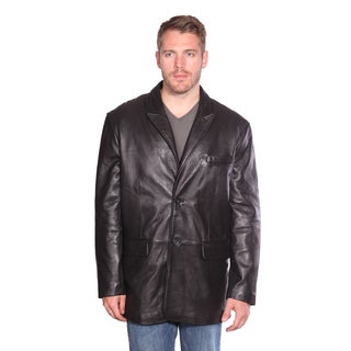 Wilda Men's 'Landon' Black Lambskin Two-button Blazer