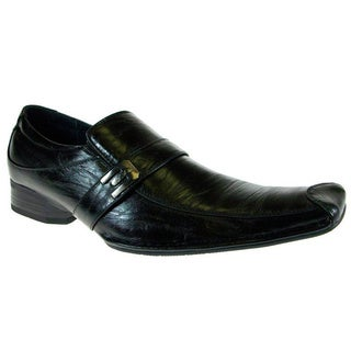 Men's Ferro Aldo Slip on Black Loafers