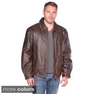 Wilda Men's 'Norton' Leather Bomber Jacket