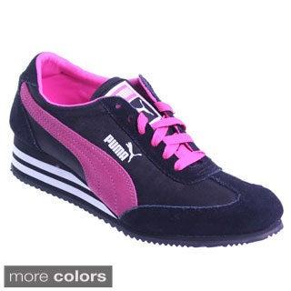 Puma Women's 'Caroline Stripe' Retro Wedge Sneakers