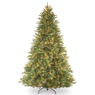 7.5-foot Feel Real Tiffany Fir Hinged Tree with 750 Clear Lights
