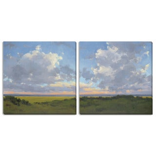 """Kim Coulter's """"Afternoon Sky I"""" and """"II"""" Canvas Art Set"""