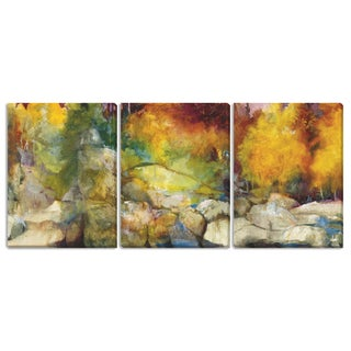 Sylvia Angeli's 'Mountain High II' 'III' and 'IV' 3-piece Canvas Set