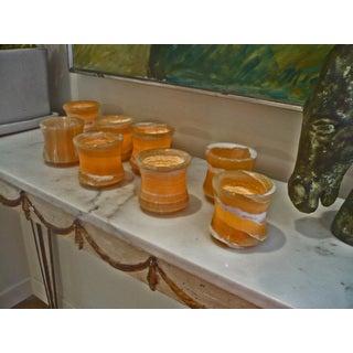 Set of 8 Hand-polished Lotus Cups (Egypt)