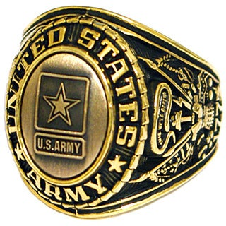 United States Army Goldtone Insignia Ring