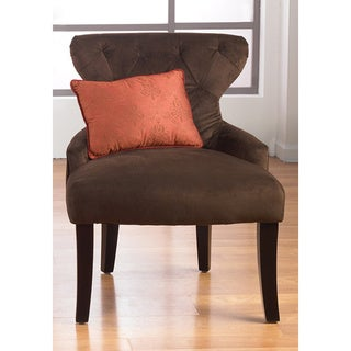 Curves Hour Glass Easy Care Fabric Accent Chair