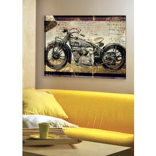 Large Printed 'Hell on Wheels' Framed Gallery-wrapped Canvas Art
