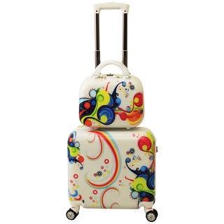 World Traveler Rio 2-piece Hardside Weekender Luggage Set
