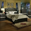 Sandberg Furniture Hollywood Glamour Black Chase Bed