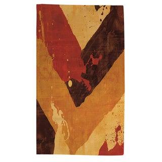 Thumbprintz Splatter No I Red Rug (4' x 6')
