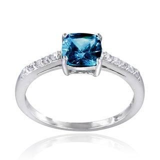 Glitzy Rocks Sterling Silver Gemstone Solitaire Ring