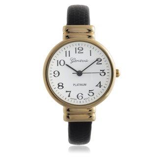 Geneva Platinum Women's Round Quartz Cuff Band Watch