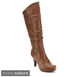 Forever Women's 'Juli-55' Knee-high Slouchy Shaft Boots