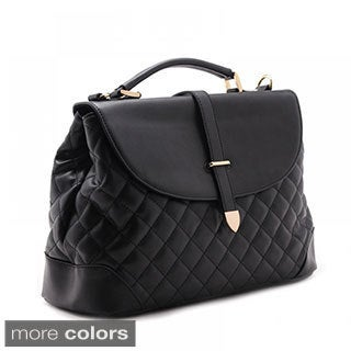 Eastide Quilted Leather Flip-top Tote Bag