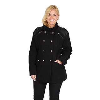 Excelled Women's Plus Wool Fashion Peacoat