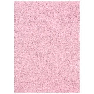 Cool Quincy Super Shaggy Pink Bath Rugs Set Of 2  Contemporary  Bath
