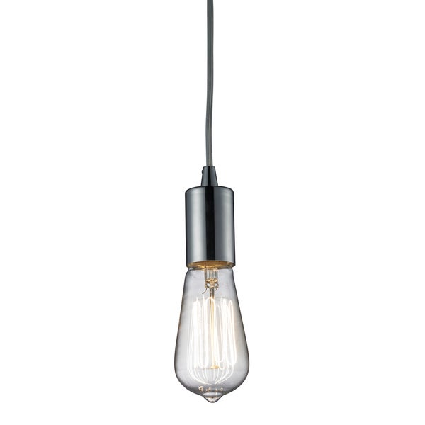 Elk Lighting Menlow Park Single-light Polished Chrome Pendant