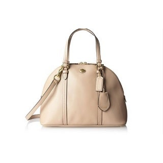 Coach 'Peyton' Sand Leather Domed Sachel