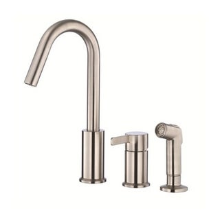 Danze Single-handle Kit Amalfi Hi-rise Spout with Spray Stainless Steel Faucet