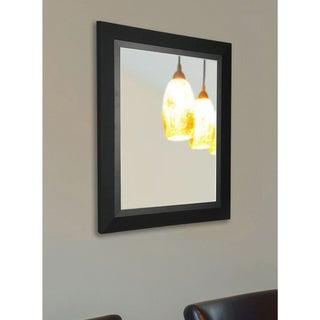 American Made Rayne Charming Matte Black Wall Mirror