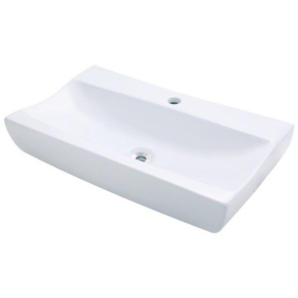 Overstock Vessel Sinks : White Porcelain Long Vessel Sink - Overstock Shopping - Great Deals on ...