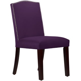 Made to Order Purpole Nail Button Arched Dining Chair