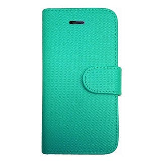 Insten PU Leather Flip Wallet Phone Case with Card Slot for iPhone 5/5s