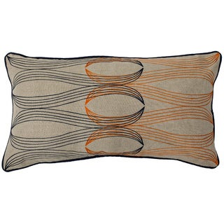 Color Interlock 14x26-inch Feather-filled Throw Pillow