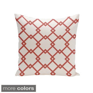 Square 16-inch Holiday Brights Collection Contemoprary Diamond Geometric Pillow