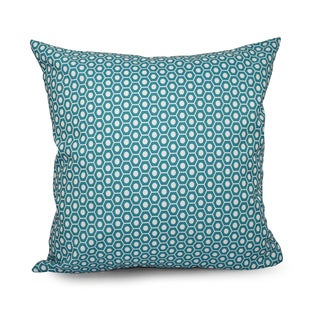 Square 18-inch Hexagonal Geometric Decorative Throw Pillow
