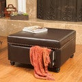 Christopher Knight Home Darby Square Bonded Leather Storage Ottoman