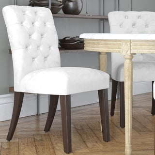 Made to Order Tufted Mor White Dining Chair