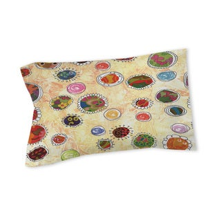 Thumbprintz Funky Flowers Pillow Sham