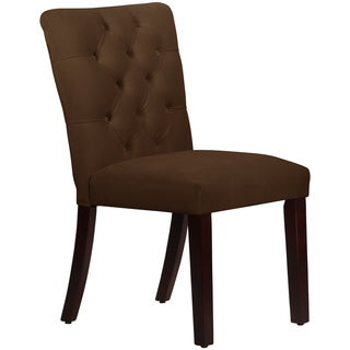 Made to Order Tufted Mor Dining Chair in Velvet Chocolate