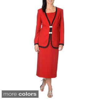 Mia-Knits Collection Women's 3-piece Skirt Suit