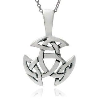 Journee Collection Sterling Silver Celtic Triskel Pendant