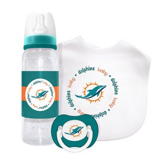 Baby Fanatic NFL Miami Dolphins 3-piece Baby Gift Set