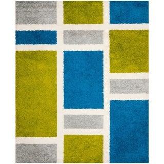 Safavieh Art Shag Blue/ Green Rug (9' x 12')