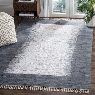Safavieh Hand-woven Montauk Ivory/ Grey Cotton Rug (9' x 12')