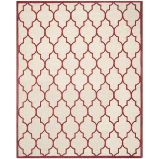 Safavieh Handmade Moroccan Cambridge Ivory/ Rust Wool Rug (9' x 12')