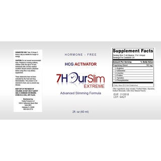 7 Hour Slim HCG 2-ounce Advanced Slimming Supplement