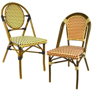 Classic European Inspired Stacking Patio Bistro Chairs (Set of 6)