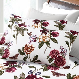 200-GSM Hemstitched Blossoms Printed Deep Pocket Flannel Sheet Set or Pillowcase Separates