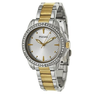 Pulsar Women's 'Night Out' Yellow goldplated stainless steel Quartz Watch