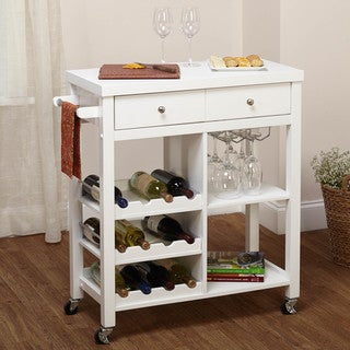 Simple Living Colwood White Wine Cart