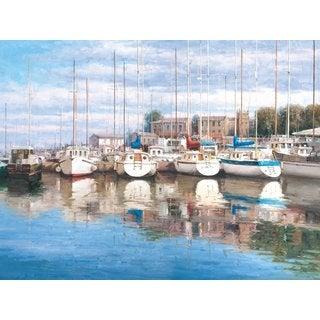 Portfolio 'Safe Harbor' Large Framed Printed Canvas Wall Art